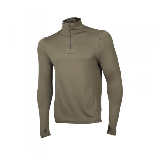 """Ceceba Langarm-Unterhemd oliv mit Zipper """"Thermal Control"""" L"""