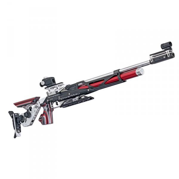 Feinwerkbau Luftgewehr Mod. 800 X Aluschaft links Schichtholz rot Griff Gr. M