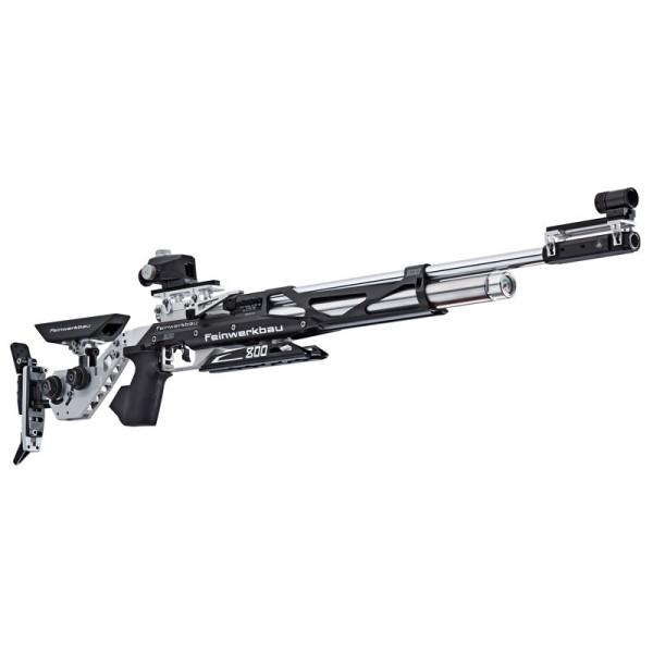 Feinwerkbau Luftgewehr Mod. 800 X Aluschaft links schwarz- silber Griff Gr. S