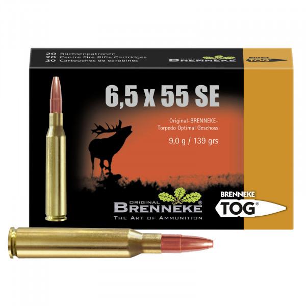 BRENNEKE 6,5X55 SE TOG Munition